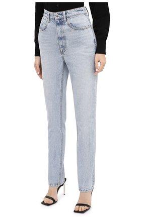 Женские джинсы DENIM X ALEXANDER WANG голубого цвета, арт. 4DC2204774 | Фото 3 (Кросс-КТ: Деним; Длина (брюки, джинсы): Стандартные; Материал внешний: Хлопок)