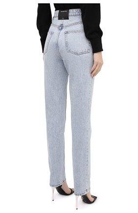 Женские джинсы DENIM X ALEXANDER WANG голубого цвета, арт. 4DC2204774 | Фото 4 (Кросс-КТ: Деним; Длина (брюки, джинсы): Стандартные; Материал внешний: Хлопок)