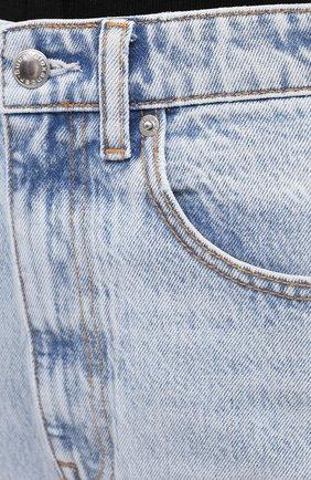 Женские джинсы DENIM X ALEXANDER WANG голубого цвета, арт. 4DC2204774 | Фото 5 (Кросс-КТ: Деним; Длина (брюки, джинсы): Стандартные; Материал внешний: Хлопок)