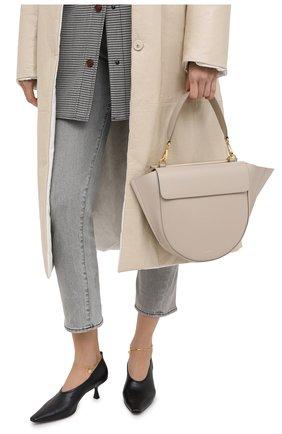 Женская сумка hortensia medium WANDLER бежевого цвета, арт. H0RTENSIA BAG MEDIUM | Фото 2
