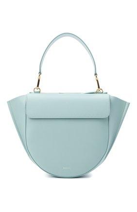 Женская сумка hortensia medium WANDLER голубого цвета, арт. H0RTENSIA BAG MEDIUM | Фото 1