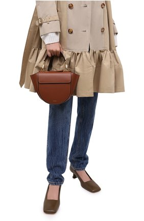 Женская сумка hortensia mini WANDLER светло-коричневого цвета, арт. H0RTENSIA BAG MINI | Фото 2