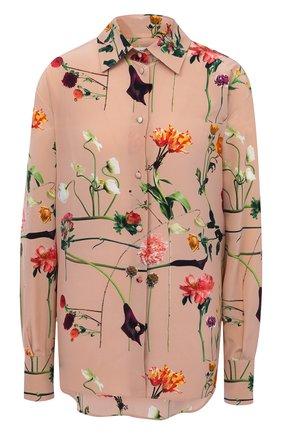 Женская шелковая блузка VALENTINO бежевого цвета, арт. UB0AB1Q5624   Фото 1