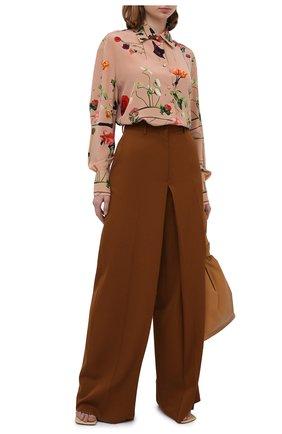 Женская шелковая блузка VALENTINO бежевого цвета, арт. UB0AB1Q5624   Фото 2