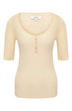 Женский кашемировый пуловер VINCE желтого цвета, арт. V670778467 | Фото 1