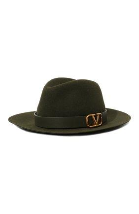 Женская фетровая шляпа  VALENTINO зеленого цвета, арт. UW2HAA26/YTE | Фото 1