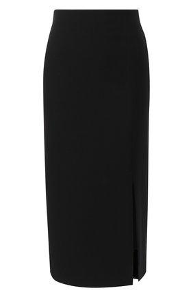 Женская юбка из шерсти и шелка VALENTINO черного цвета, арт. UB0RA6V11CF | Фото 1