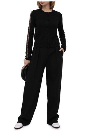 Женские шерстяные брюки VALENTINO черного цвета, арт. UB0RB3Z55VP | Фото 2