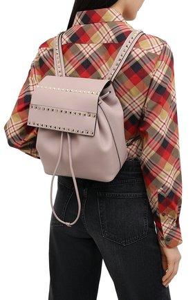Женский рюкзак valentino garavani rockstud VALENTINO бежевого цвета, арт. UW0B0H60/YRK | Фото 2