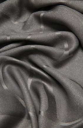 Женская шаль из шелка и шерсти VALENTINO серого цвета, арт. UW0EB104/DNE   Фото 2