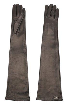 Женские кожаные перчатки VALENTINO черного цвета, арт. UW0GCA19/WZF | Фото 2 (Длина (верхняя одежда): Длинные)