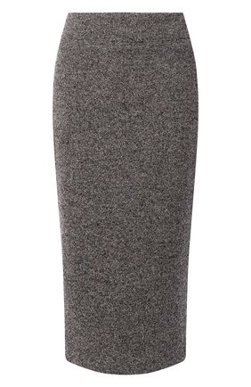 Женская юбка из шерсти и шелка KITON коричневого цвета, арт. D19209K05T09 | Фото 1