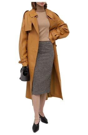 Женская юбка из шерсти и шелка KITON коричневого цвета, арт. D19209K05T09 | Фото 2