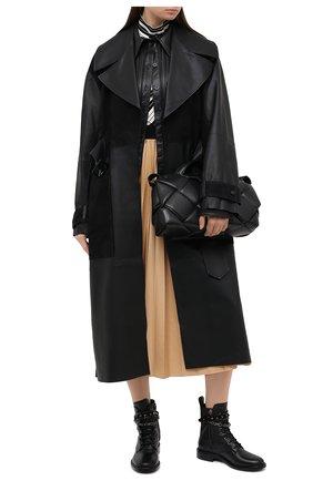 Женские кожаные ботинки valentino garavani rockstud chain VALENTINO черного цвета, арт. UW2S0AC4/NPZ | Фото 2