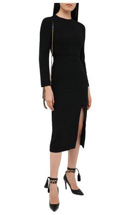 Женские кожаные туфли rockstud flair VALENTINO черного цвета, арт. UW2S0X79/GYH | Фото 2