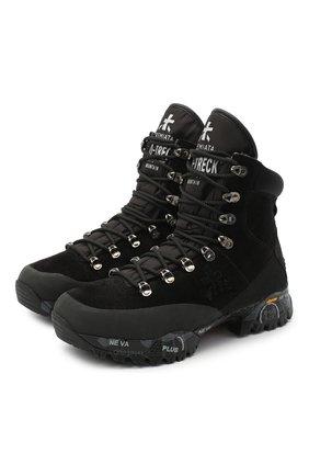 Женские комбинированные ботинки midtrecd PREMIATA темно-серого цвета, арт. MIDTRECD/VAR164 | Фото 1