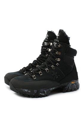 Женские комбинированные ботинки midtrecd PREMIATA черного цвета, арт. MIDTRECD/VAR184 | Фото 1