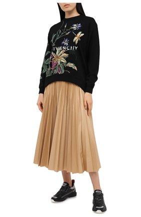 Женские кожаные кроссовки valentino garavani shegoes VALENTINO черного цвета, арт. UW0S0AB1/KCX   Фото 2