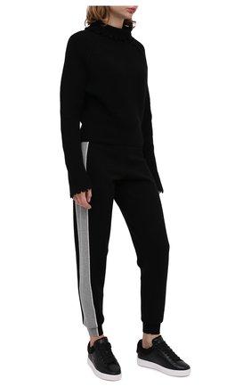 Женские кожаные кеды SEE BY CHLOÉ черного цвета, арт. SB35191A/12321   Фото 2