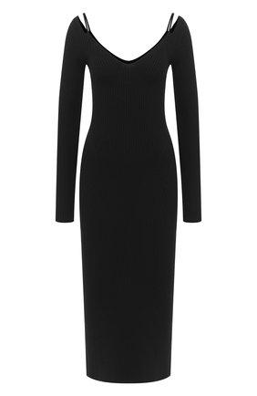 Женское шерстяное платье MRZ черного цвета, арт. FW20-0081 | Фото 1