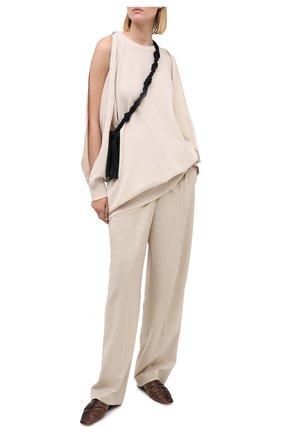 Женское платье из шерсти и кашемира MRZ бежевого цвета, арт. FW20-0145 | Фото 2