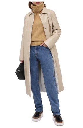 Женский свитер из шерсти и кашемира KENZO бежевого цвета, арт. FA62PU5023AE | Фото 2