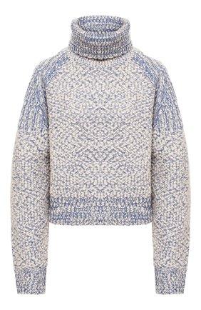 Женский шерстяной свитер KENZO голубого цвета, арт. FA62PU5183AG | Фото 1