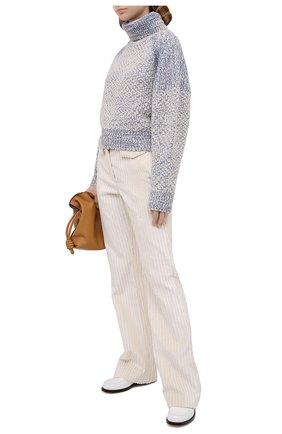 Женский шерстяной свитер KENZO голубого цвета, арт. FA62PU5183AG | Фото 2