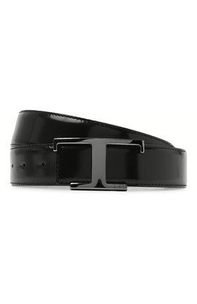 Мужской кожаный ремень TOD'S черного цвета, арт. XCMCQR511000XW | Фото 1