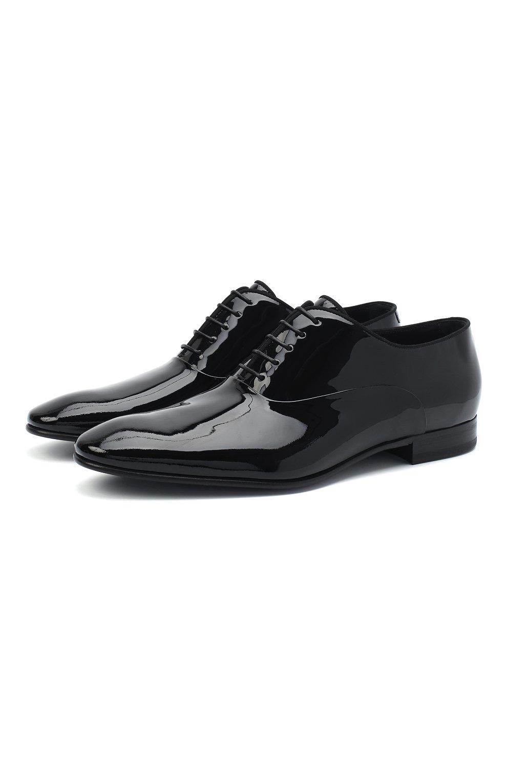 Мужские кожаные оксфорды BOSS черного цвета, арт. 50370447 | Фото 1