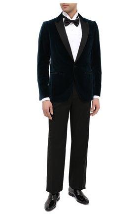 Мужские кожаные оксфорды BOSS черного цвета, арт. 50370447 | Фото 2