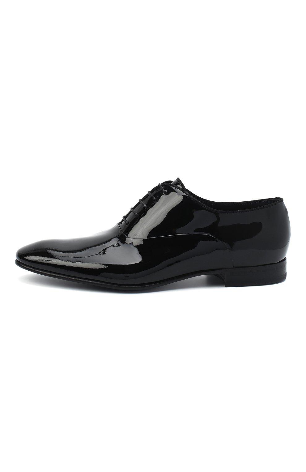 Мужские кожаные оксфорды BOSS черного цвета, арт. 50370447 | Фото 3
