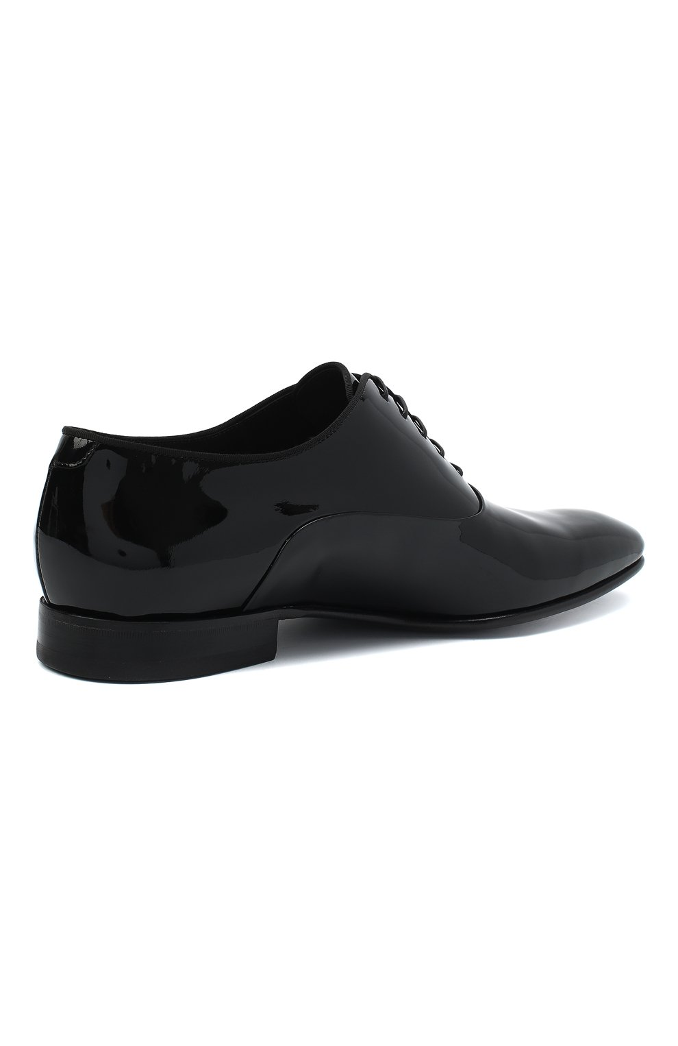 Мужские кожаные оксфорды BOSS черного цвета, арт. 50370447 | Фото 4
