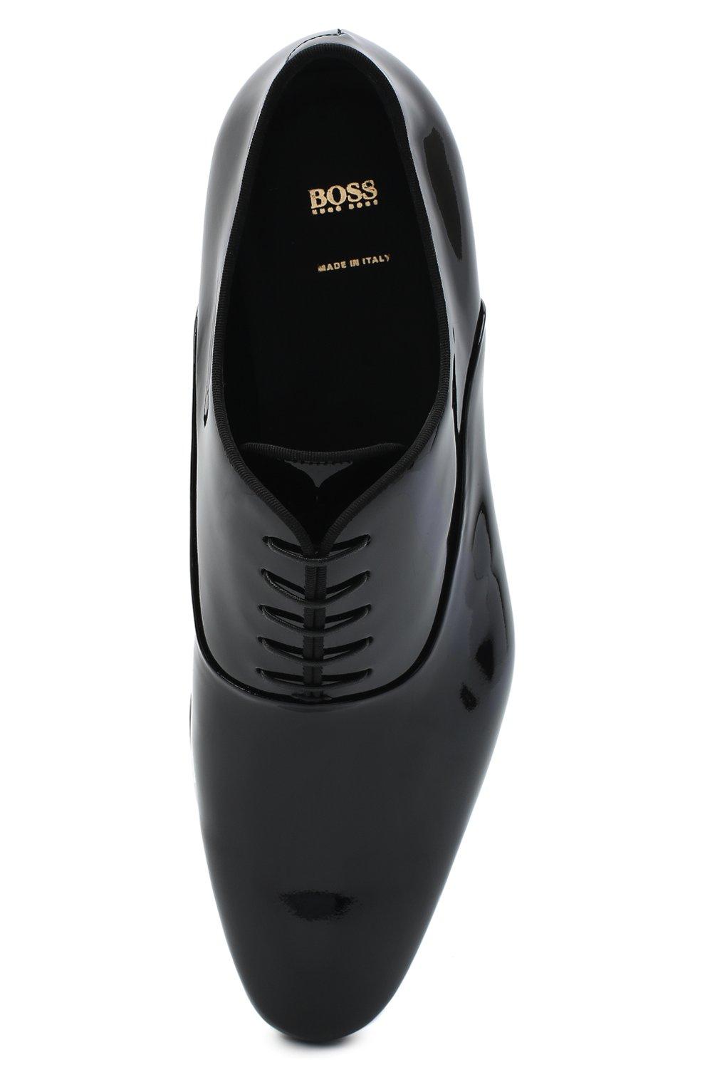 Мужские кожаные оксфорды BOSS черного цвета, арт. 50370447 | Фото 5