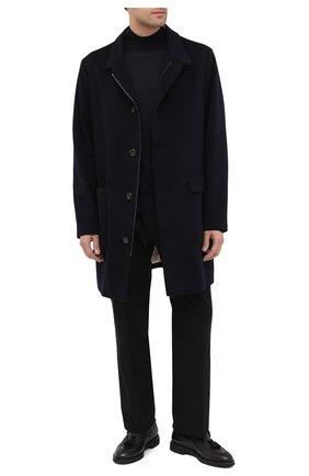 Мужские кожаные лоферы DOUCAL'S черного цвета, арт. DU2753VER0UM065RN00 | Фото 2