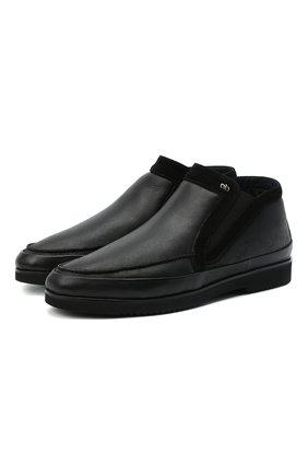 Мужские кожаные ботинки ALDO BRUE черного цвета, арт. AB8146K-NDNV.S.A99G   Фото 1