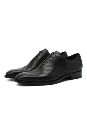 Мужские кожаные оксфорды GIVENCHY черного цвета, арт. BH101NH0P6 | Фото 1