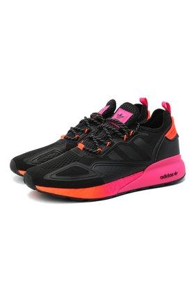 Мужские комбинированные кроссовки zx 2k boost ADIDAS ORIGINALS черного цвета, арт. FV9997 | Фото 1
