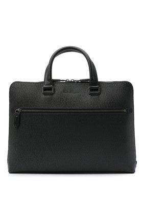Мужская кожаная сумка для ноутбука SALVATORE FERRAGAMO темно-серого цвета, арт. Z-0732517 | Фото 1