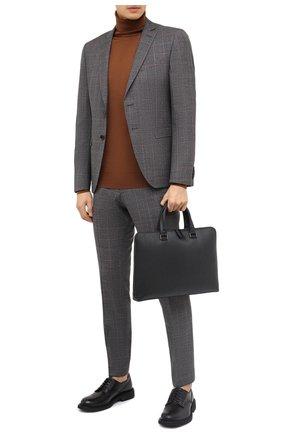 Мужская кожаная сумка для ноутбука SALVATORE FERRAGAMO темно-серого цвета, арт. Z-0732517 | Фото 2
