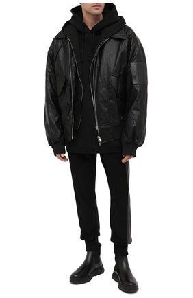 Мужские кожаные челси greca rhegis VERSACE черного цвета, арт. DSU8206/D60VG | Фото 2 (Подошва: Массивная; Материал внутренний: Натуральная кожа)