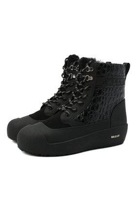 Мужские комбинированные ботинки cuby BALLY черного цвета, арт. CUBY/60 | Фото 1