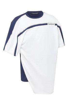 Мужская хлопковая футболка Y/PROJECT белого цвета, арт. TS52-S19 J38 | Фото 1