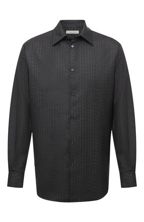 Мужская шерстяная рубашка VALENTINO серого цвета, арт. UV0ABA956R8 | Фото 1