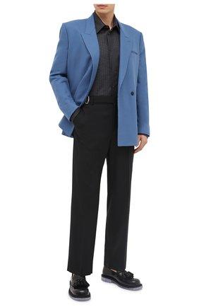 Мужская шерстяная рубашка VALENTINO серого цвета, арт. UV0ABA956R8 | Фото 2 (Материал внешний: Шерсть; Рукава: Длинные; Длина (для топов): Стандартные; Мужское Кросс-КТ: Рубашка-одежда; Принт: С принтом; Случай: Повседневный; Стили: Кэжуэл; Манжеты: На пуговицах; Воротник: Кент)