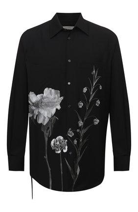 Мужская шерстяная рубашка VALENTINO черного цвета, арт. UV0ABF206SR | Фото 1