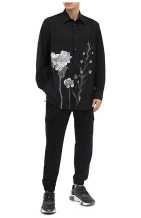 Мужская шерстяная рубашка VALENTINO черного цвета, арт. UV0ABF206SR | Фото 2