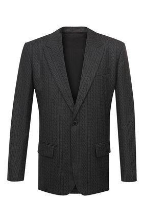 Мужской шерстяной пиджак VALENTINO серого цвета, арт. UV0CEB806R8 | Фото 1