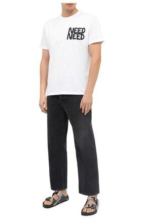 Мужская хлопковая футболка VALENTINO белого цвета, арт. UV0MG10V6WH | Фото 2