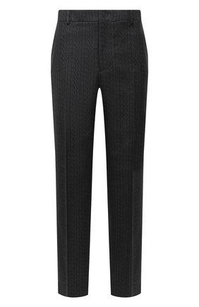 Мужской шерстяные брюки VALENTINO серого цвета, арт. UV0RBE756R8 | Фото 1